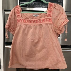 Madewell Embroidered top L/XL